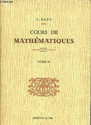 COURS DE MATHEMATIQUES - TOME 2 : J. BASS