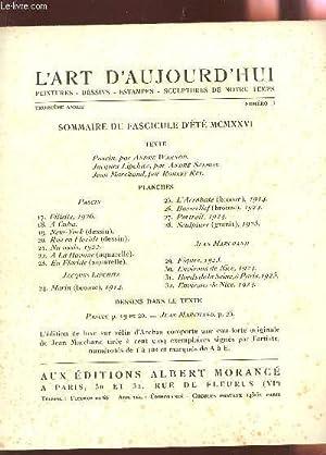 L'ART D'AUJOURD'HUI / FASCICULE D'ETE 1926 - 3e ANNEE - N°10 / 13...