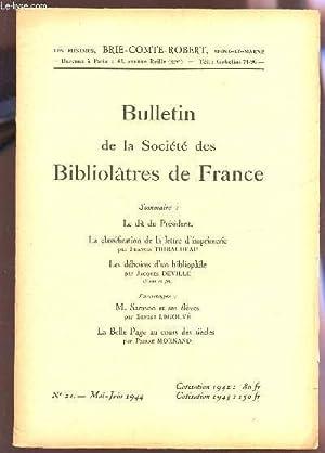 BULLETIN DE LA SOCIETE DES BIBLIOLATRES DE: COLLECTIF