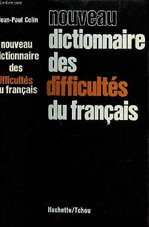 NOUVEAU DICTIONNAIRE DES DIFFICULTES DU FRANCAIS.: COLIN JEAN-PAUL