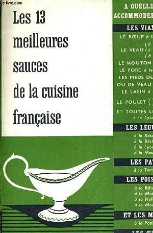 FASCICULES LES 13 MEILLEURES SAUCES DE LA CUISINE FRANCAISE.: COLLECTIF