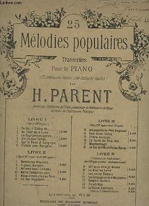 25 MELODIE POPULAIRES - LIVRE 1 : PARENT H.