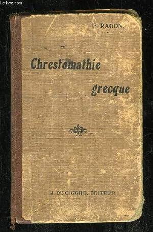CHRESTOMATHIE GRECQUE CONTENANT TOUS LES MOTS USUELS DE LA PROSE CLASSIQUE. 14em EDITION.: RAGON E.