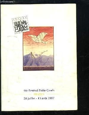 Programme du 46e Festival Pablo Casals -: COLLECTIF