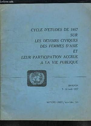 Cycle d'Etudes de 1957 sur les devoirs civiques des femmes d'Asie et leur participation &...