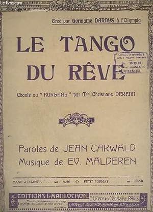 LE TANGO DU REVE - PIANO +: MALDEREN E.V.