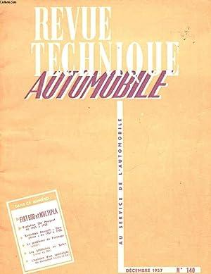 REVUE TECHNIQUE AUTOMOBILE N°140: COLLECTIF