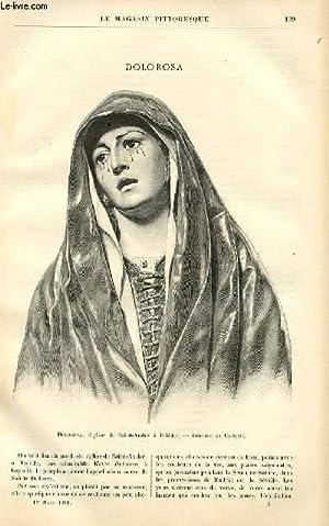 LE MAGASIN PITTORESQUE - Livraison n°05 - Dolorosa, gravé par Crosbie (église de Saint André à ...