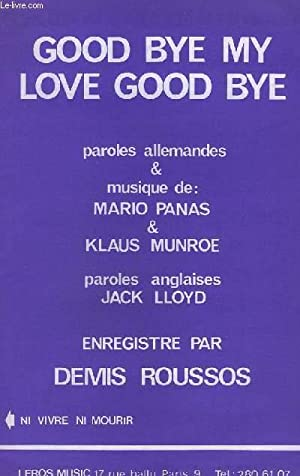 GOOD BYE MY LOVE GOOD BYE + NI VIVRE NI MOURIR - CONTREBASSE + PIANO + CHANT / INSTRUMENTS UT ...