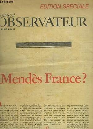 Le nouvel Observateur n°185 : Mendès France: PERDRIEL Claude &