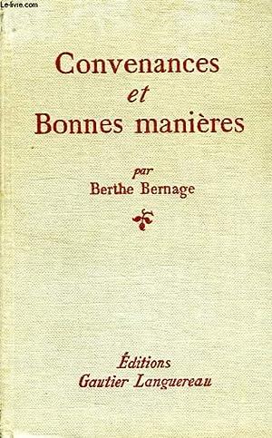 CONVENANCES ET BONNES MANIERES: BERNAGE BERTHE