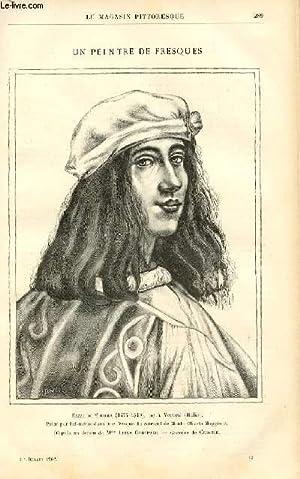LE MAGASIN PITTORESQUE - Livraison n°13 - Un peintre de fresques: Bazzi di Sodoma (1477-1549), ...