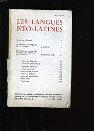 LES LANGUES NEO-LATINES III. N°242.: COLLECTIF.