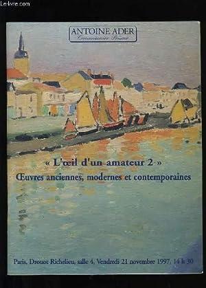 VENTE AUX ENCHERES PUBLIQUES D'OEUVRES ANCIENNES, MODERNES: ANTOINE ADER.