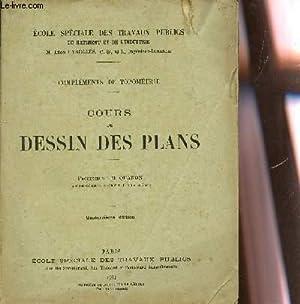 COURS DE DESSIN DES PLANS - COMPLEMENT DE TOPOMETRIE / 14e EDITION.: QUANON M.