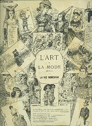 L'ART ET LA MODE - JOURNAL DE LA VIE MONDAINE / N°52 - 13e ANNEE - SAMEDI 24 DECEMBRE...