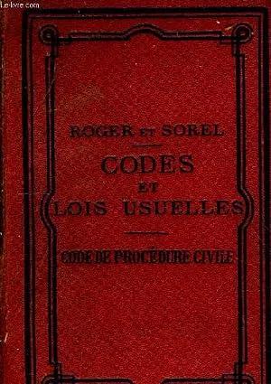 CODES ET LOIS USUELLES PRESENTANT EN NOTE SOUS CHAQUE ARTICLE DES CODES SES DIFFERENTES ...