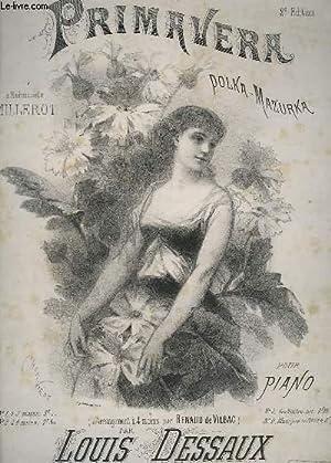 PRIMAVERA - POLKA MAZURKA POUR PIANO.: DESSAUX LOUIS