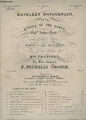 KATHLEEN MAVOURNEEN - N°4 : PIANO + CHANT.: CROUCH F. NICHOLIS