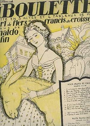 AMOUR QUI MEURS, AMOUR QUI PASSES - CIBOULETTE POUR PIANO + CHANT.: HAHN REYNALDO