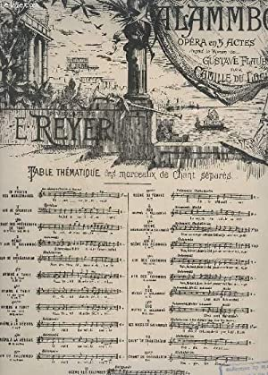 SALAMMBO - N° 7 : SCENE DES COLOMBES - PIANO + CHANT.: REYER E.