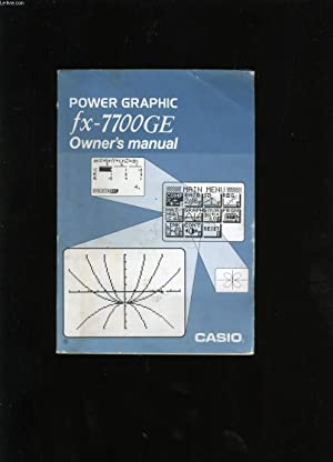 OWNER'S MANUAL. POWER GRAPHIC FX-7700GE. CASIO.: COLLECTIF.
