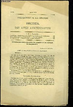 PREFECTURE DE LA GIRONDE RECUEIL DES ACTES ADMINISTRATIFS N° 22 - Commissions administratives ...