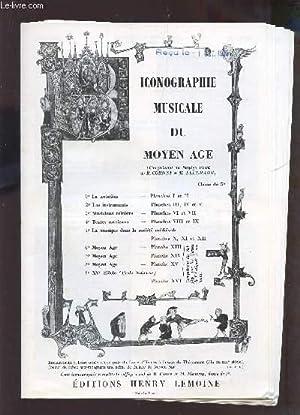 ICONOGRAPHIE MUSICALE DU MOYEN AGE (COMPLEMENT DU SOLFEGE VOCAL DE R. CORNET ET M. FLEURANT).: ...