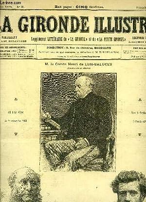 LA GIRONDE ILLUSTREE N° 35 - M. LE COMTE HENRI DE LUR-SALUCES - M. HENRI BROCHON - M. CRAMPEL: ...