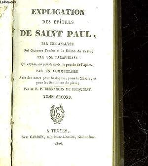 EXPLICATION DE EPITRES DE SAINT PAUL - TOME 2: COLLECTIF