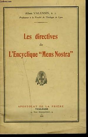 """LES DIRECTIVES E L'ENCYCLIQUE """"MENS NOSTRA"""": ALBERT VALENSIN, S.J."""