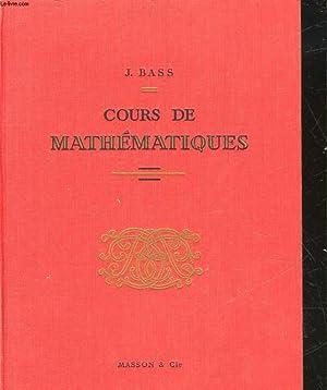 COURS DE MATHEMATIQUES: BASS J.