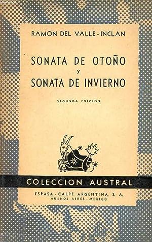 SONATA DE OTOÑO, SONATA DE INVIERNO, COLECCIÓN AUSTRAL, N° 441: VALLE-INCLAN ...