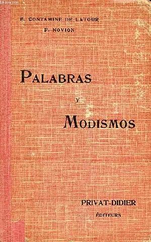 PALABRAS Y MODISMOS: CONTAMINE DE LATOUR E., NOVION F.