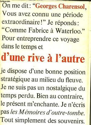 D'UNE RIVE A L'AUTRE: CHARENSOL Georges