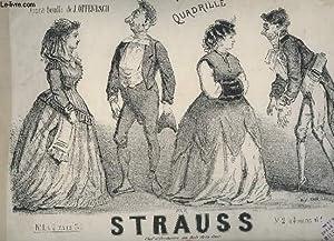 LA VIE PARISIENNE - QUADRILLE POUR PIANO A 2 MAINS.: STRAUSS
