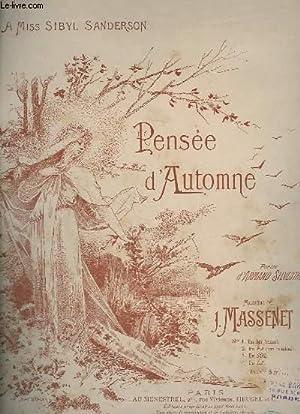 PENSEE D'AUTOMNE - PIANO ET CHANT.: MASSENET J.