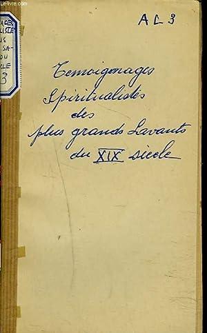 TEMOIGNAGES SPIRITUALISTES DES PLUS GRANDS SAVANTS DU XIXe SIECLE.: L'ABBE C.-L. GUILLEMET