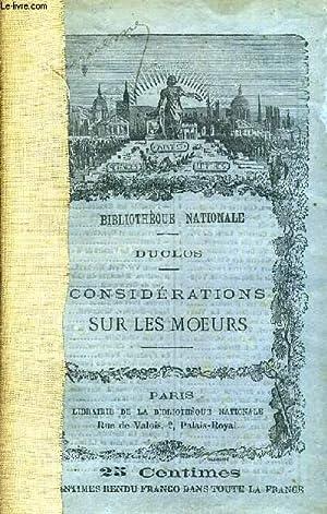 CONSIDERATIONS SUR LES MOEURS.: DUCLOS