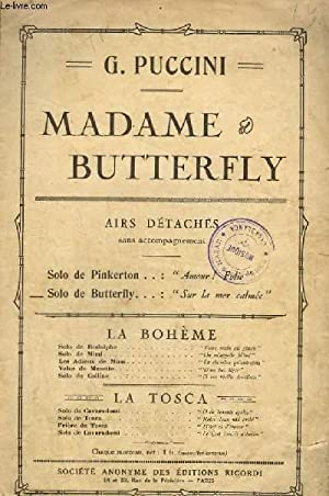 MADAME BUTTERFLY - CHANT.: PUCCINI G.