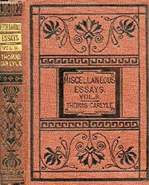 CRITICAL AND MISCELLANEOUS ESSAYS, VOL. II: CARLYLE THOMAS