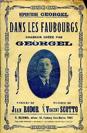 DANS LES FAUBOURGS: SCOTTO Vincent /