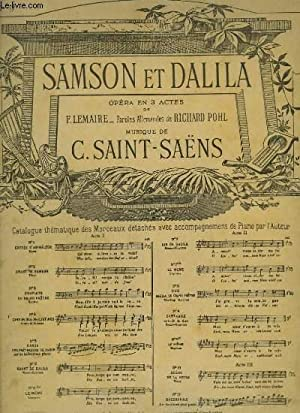 SAMSON ET DALIDA - N°9 : CANTABILE EXTRAIT DU DUO.: SAINT SAENS C.
