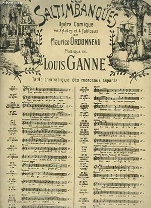 LES SALTIMBANQUES - N°9 A : VALSE C'EST L'AMOUR.: GANNE LOUIS