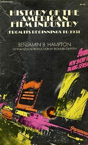 HISTORY OF THE AMERICA FILM INDUSTRY FROM: HAMPTON BENJAMIN B.