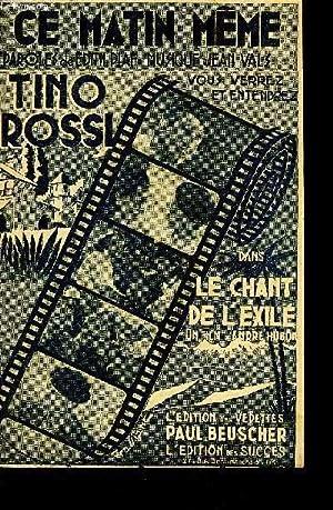 CE MATIN MEME: VALZ Jean / BOUTAYRE Henri / PIAF Edith