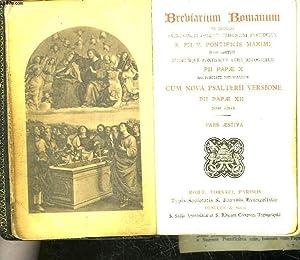 BREBIARIUM ROMANUM EX DECRETO SACROSANCTI CONCILII TRIDENTINI RESTITUTUM S. PII V. PONTIFICIS ...
