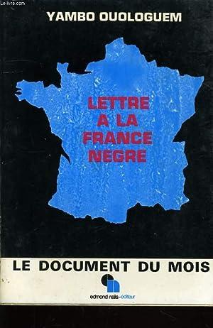 LETTRE A LA FRANCE NEGRE: OUOLOGUEM Yambo