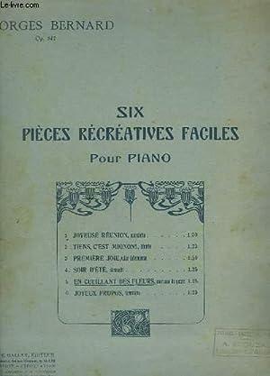 EN CUEILLANT DES FLEURS - PIECE RECREATIVE FACILE POUR PIANO N°5.: BERNARD GEORGES