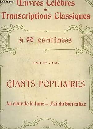 CHANTS POPULAIRES POUR PIANO ET VIOLON : MONTEL F. G.